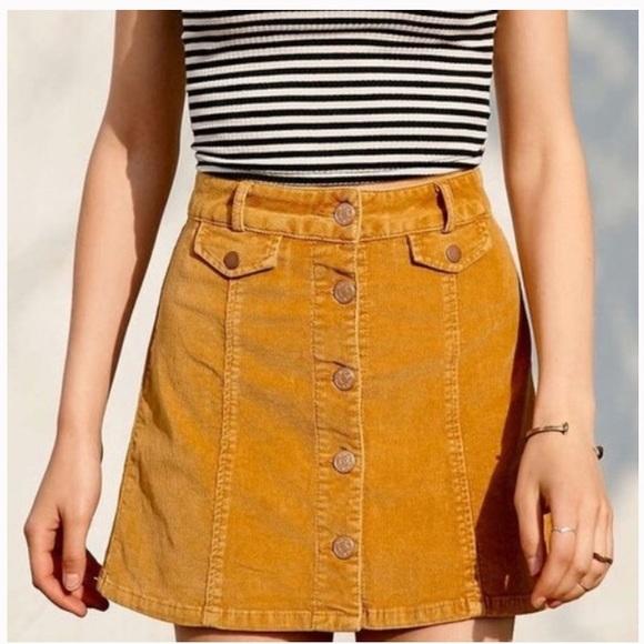4740de88384eea BDG Skirts | Urban Outfitters Mustard Corduroy Skirt | Poshmark